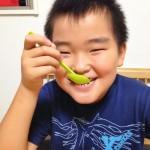 【レシピ:甘酒】果肉を残すと、食べた時に食感が楽しめます♫「甘酒桃シャーベット」