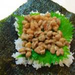 【レシピ:納豆】今、巷で流行りの「おにぎらず」☆