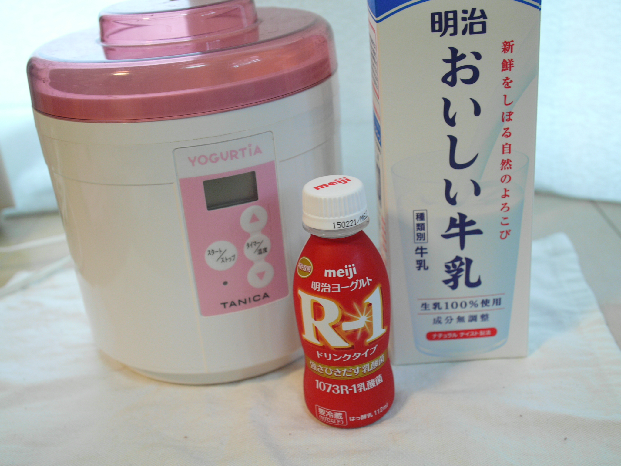 R-1飲むヨーグルト準備
