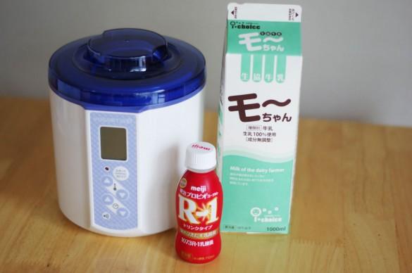 モーちゃん牛乳、R-1ドリンク、ヨーグルティアS