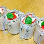 甘糀の優しい甘さと、苺の甘酸っぱさが口いっぱいに広がります(*゚∀゚*)見た目も可愛い「豆乳甘酒の苺ムース」
