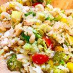 野菜のシャキシャキ感と豆のホクホク感とキヌアのプチプチ感が味わえて、栄養価も一緒に摂れちゃう〜(*≧∀≦*)「コストコ風キヌアサラダ」