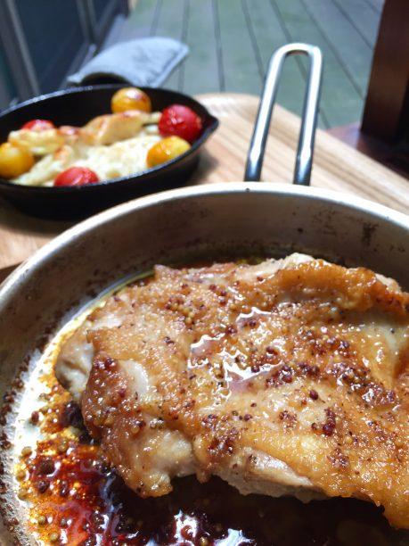 鶏モモのハニーマスタード焼き完成