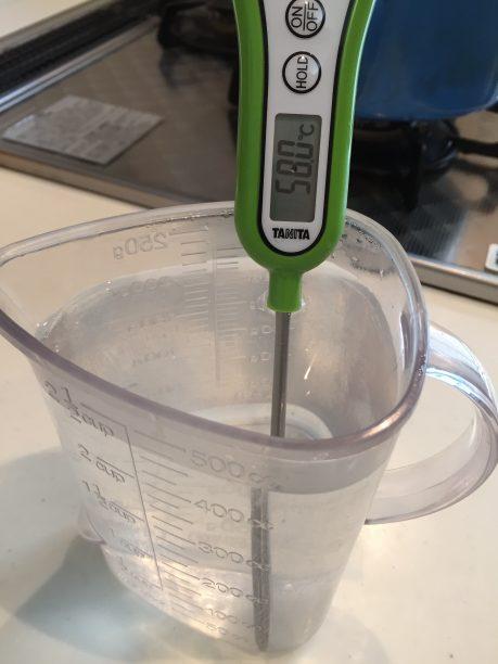 お湯の温度を計測