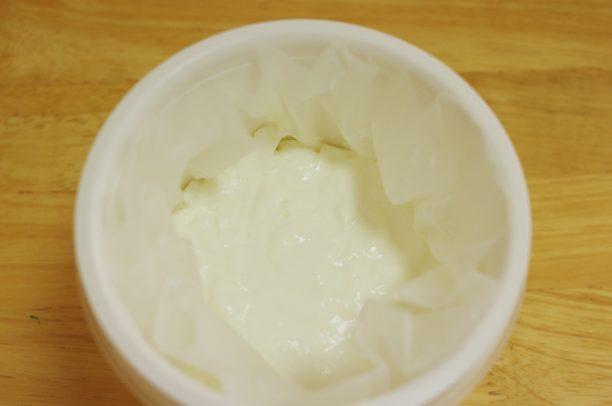 水切りヨーグルトを作る