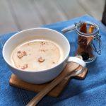 【食レポ:甘酒】「ホット豆乳きな粉甘酒」きな粉の香ばしさが最高(*≧∀≦*)甘酒との相乗効果で、腸内環境を効率良く整えるのに最適(^_^)v
