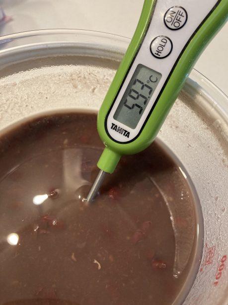 茹でたては熱いので60度位まで冷まします。