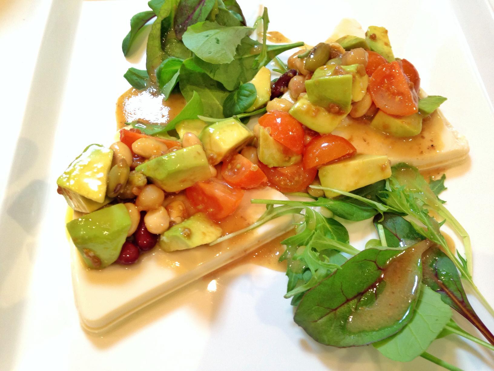 醤油麹とオリーブオイルのサラダ