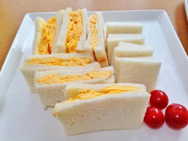 塩こうじ炒り卵サンドイッチの完成