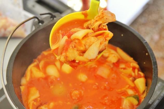 トマトスープの出来上がり