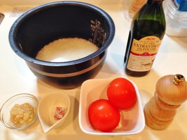 トマト丸ごとご飯の材料