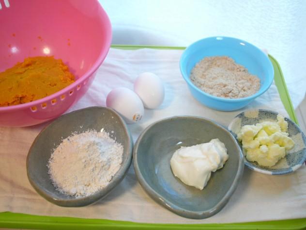 発酵かぼちゃケーキの材料