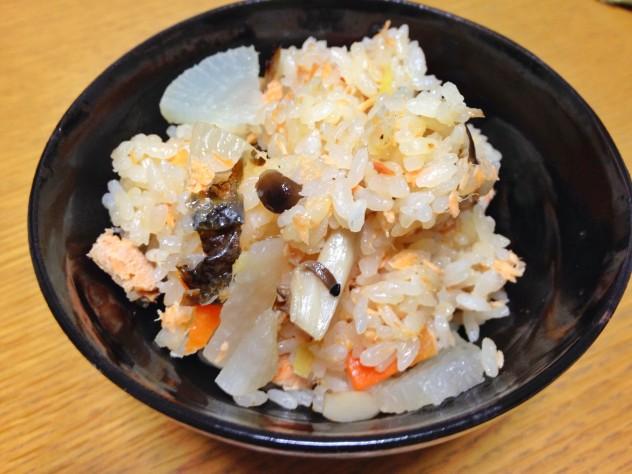秋鮭ご飯完成