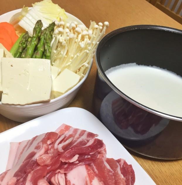 豆乳鍋材料
