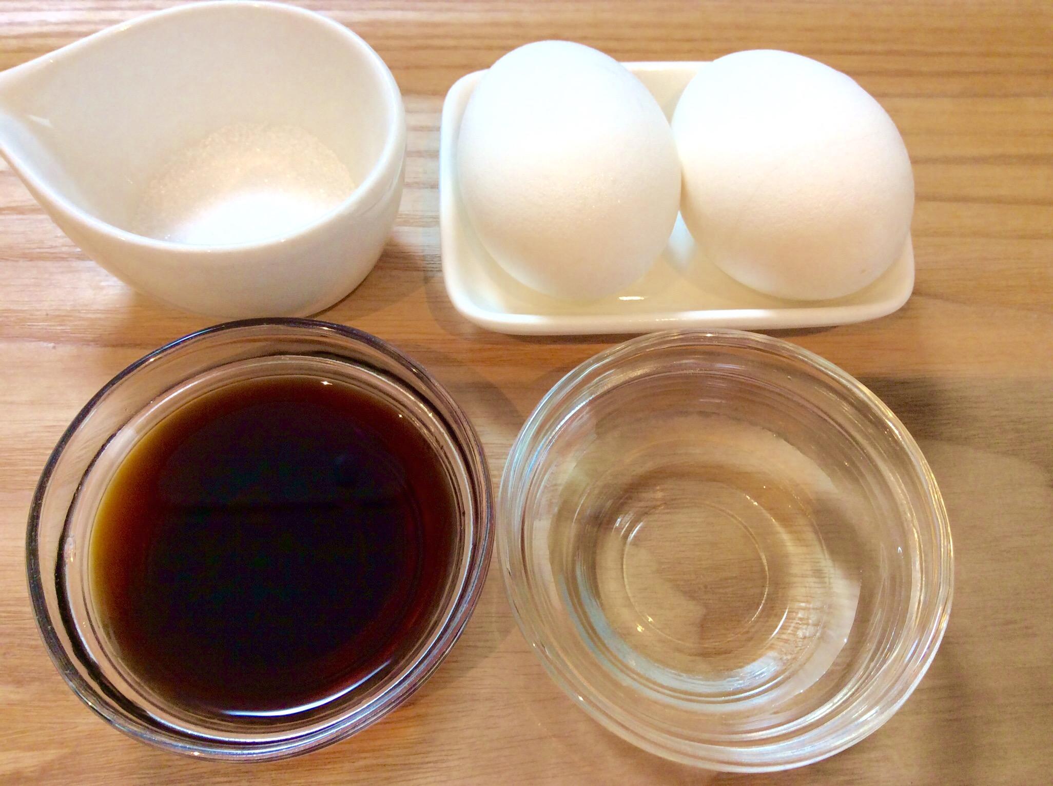 酢醤油漬け卵の材料