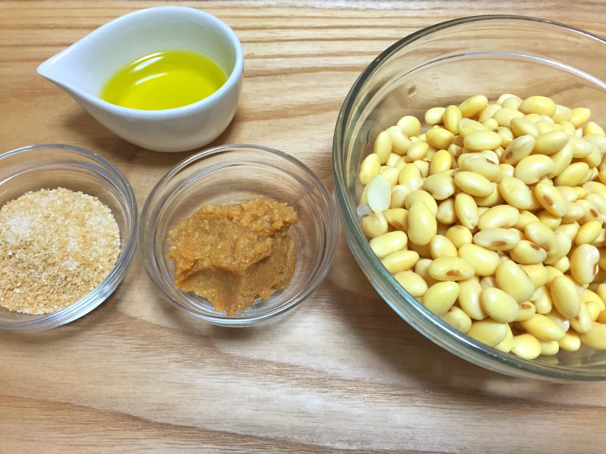 大豆の味噌炒めの材料