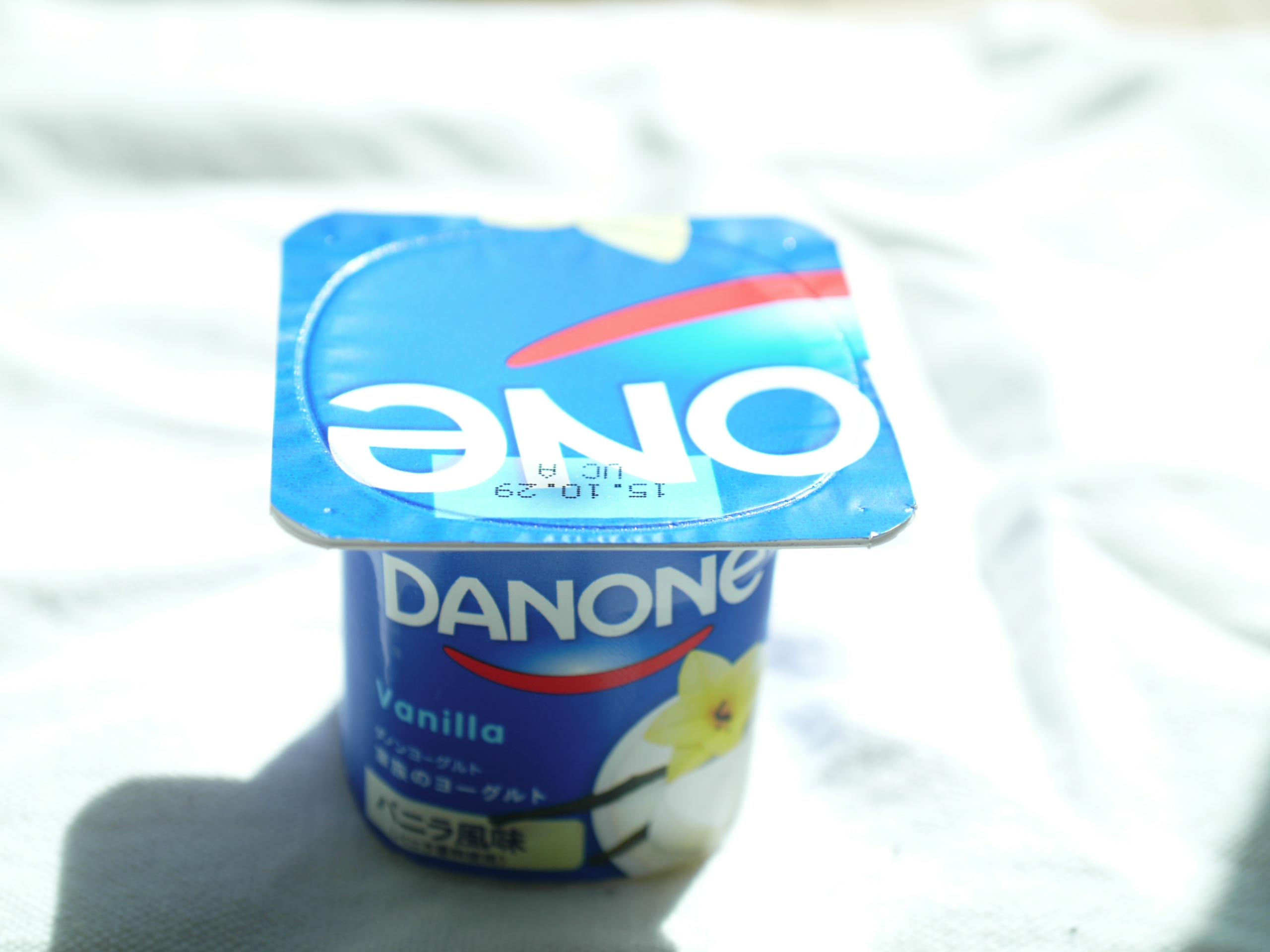 ダノンバニラ風味ヨーグルト