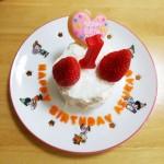 【レシピ:ヨーグルト】離乳食バースデーケーキ