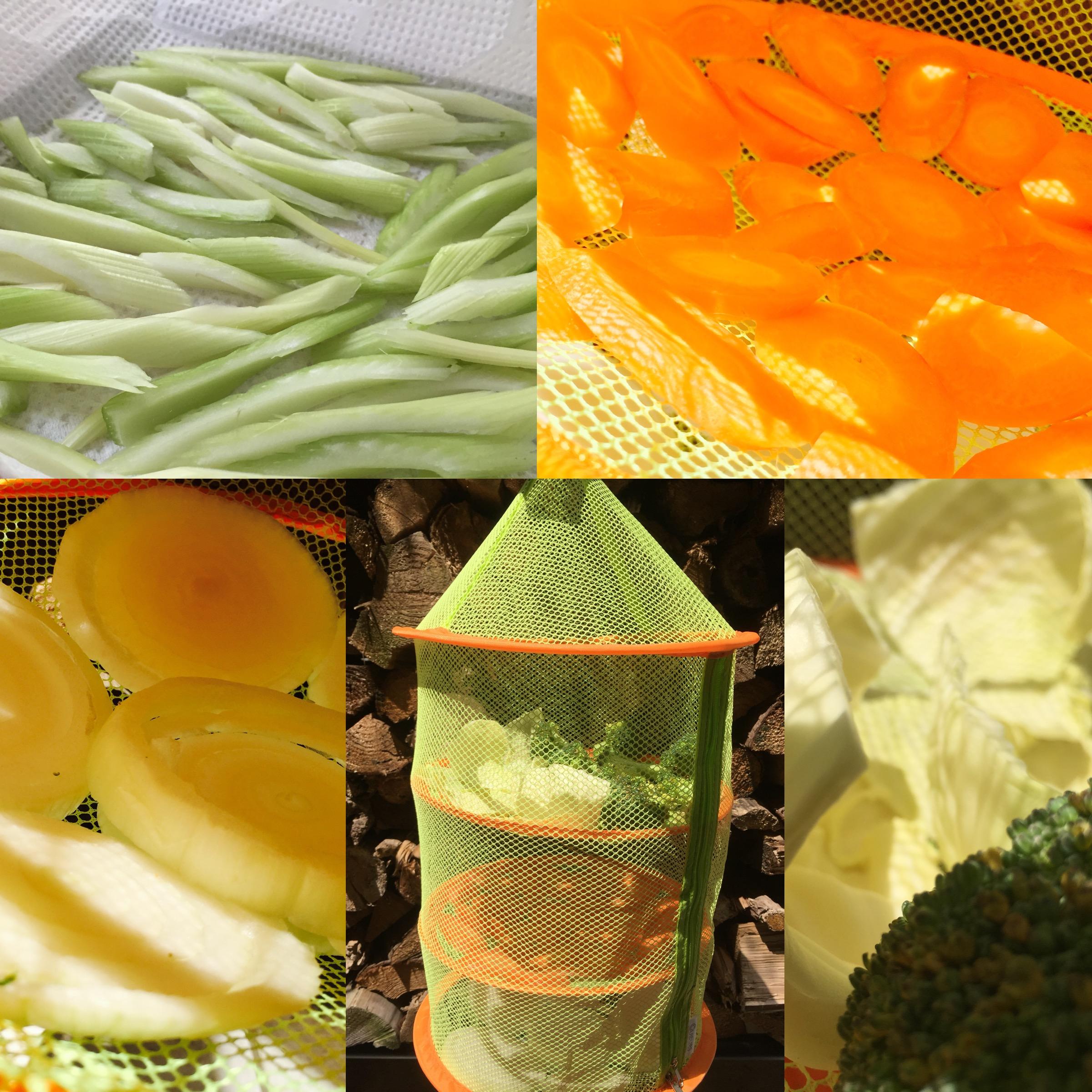 野菜を干す