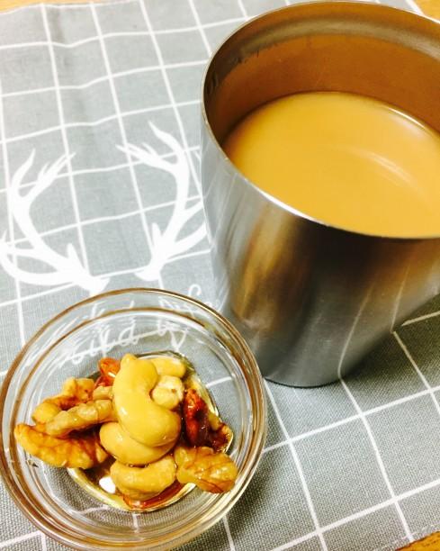 メープルシロップ漬けとコーヒー