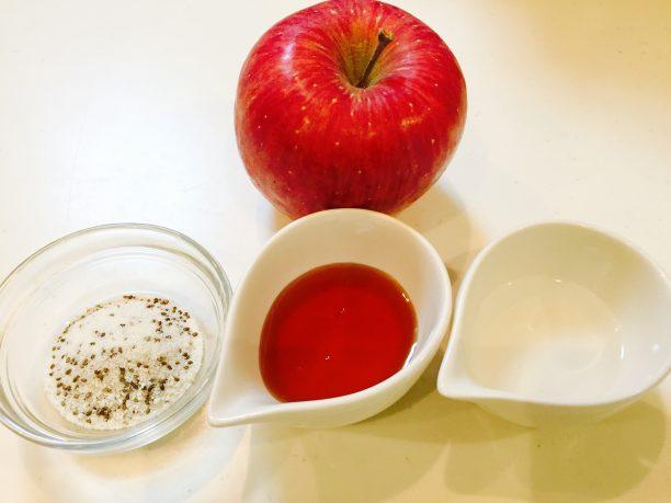りんごチアシードジャムの材料