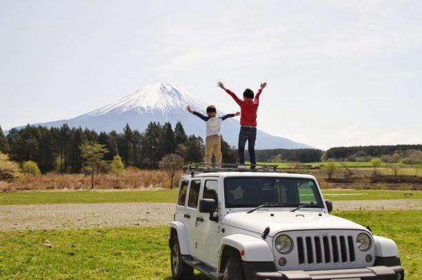 せんちゃん・そうちゃんと富士山