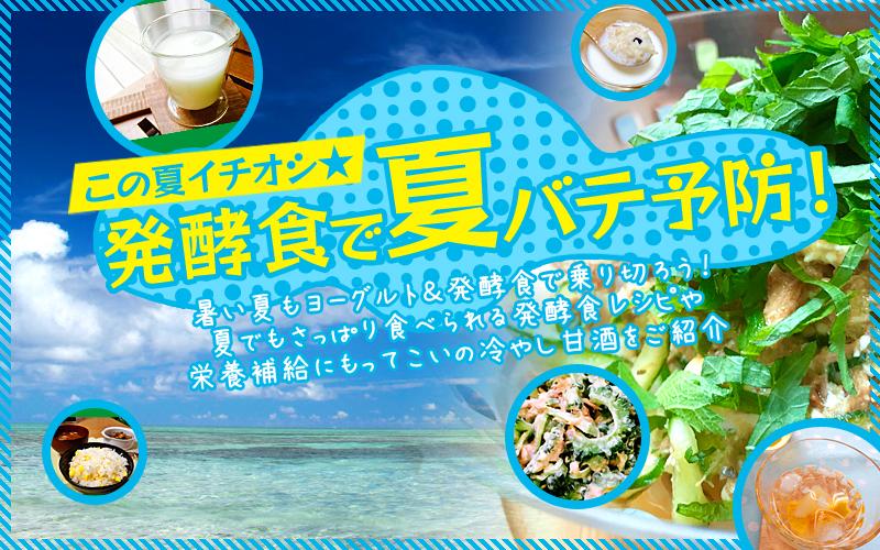この夏イチオシ☆発酵食で夏バテ予防!