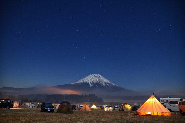 夜の富士山キャンプ
