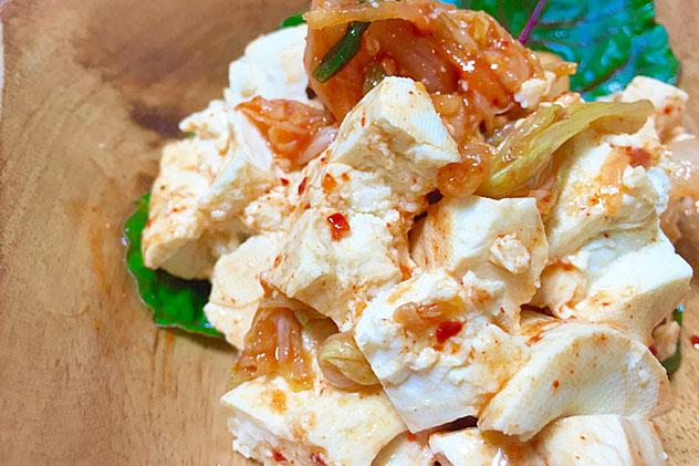 豆腐とキムチのナムル