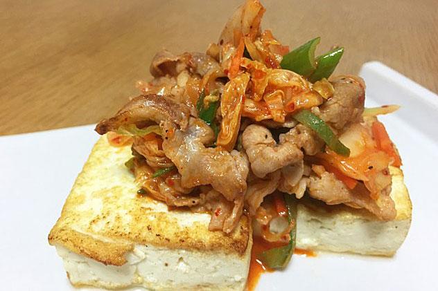 豚キムチ豆腐