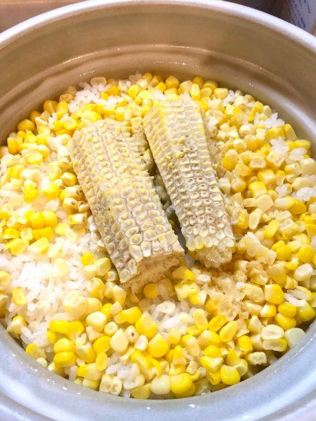 塩麹トウモロコシご飯の完成