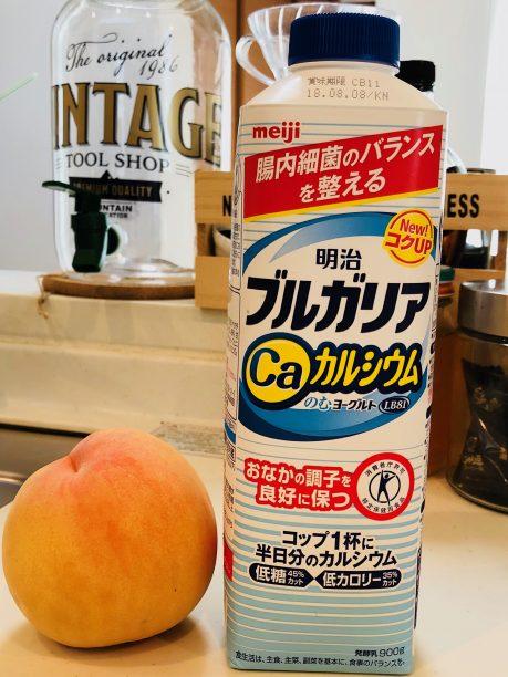 飲むヨーグルト、桃