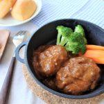 【レシピ:低温調理】「煮込み風ハンバーグ」煮込んだかのようにお肉がやわらかジューシーに仕上がりました♪