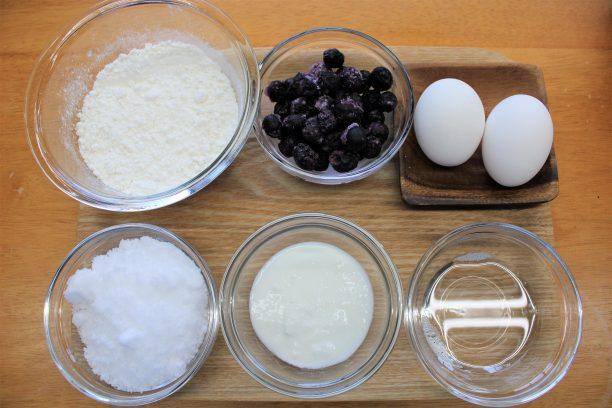 ヨーグルトケーキの材料