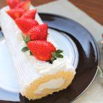 【レシピ】ケーキ特集②☆「苺のロールヨーグルトケーキ」ふわふわのスポンジとさっぱりとしたヨーグルトムースの相性抜群!