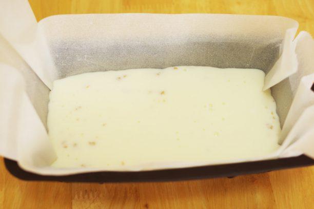 レアチーズケーキの完成