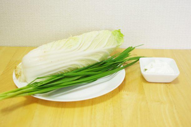 ヨーグルト、白菜、ニラ