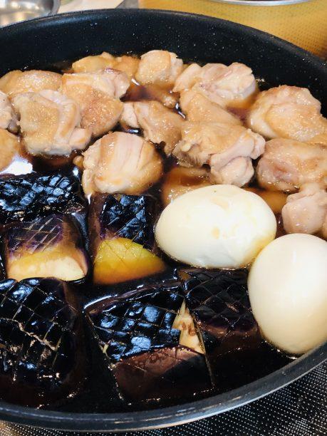 """鶏肉とナスの煮浸しの完成"""""""