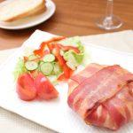 【パーティーメニュー①:チーズ酵素】「まるごとモッツァレラチーズのベーコン包み焼き」作りました♬