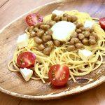 【レシピ:チーズ・納豆】「チーズ納豆パスタ」和風テイストから洋風味テイストへと大変身‼️想定外の美味しさです(≧∇≦)