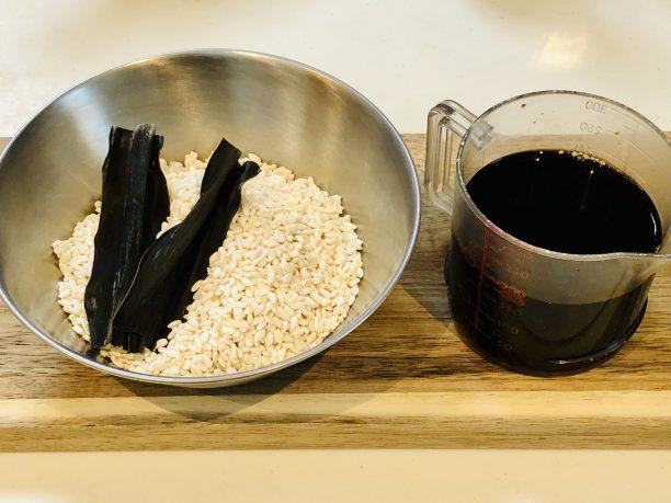 昆布しょゆ麹の材料