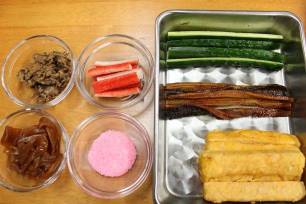 巻き寿司の材料