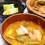 【レシピ:味噌】「豚キムチみそ汁」キムチが加わる事で味に深みと旨味がプラスされ、より一層美味しくなりました(*≧∀≦*)
