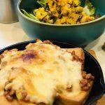 【レシピ:納豆】「厚揚げの発酵グリル」チーズ、納豆、キムチのパンチが効いているのに口の中で一体化してパワーアップ(*≧∀≦*)