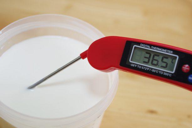 36.5℃の牛乳と生クリーム