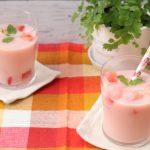 【レシピ:甘酒酵素】「スイカと甘酒のスムージー」甘酒酵素で作る簡単スムージー♬