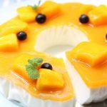 【レシピ:ヨーグルト】「マンゴーレアチーズケーキ」美味しいだけじゃない!!美肌効果が期待できるマンゴーは夏におすすめ☆
