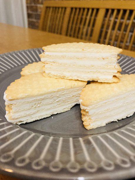 完成したヨーグルトクッキーアイス