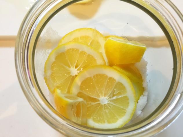 レモンを敷きます。