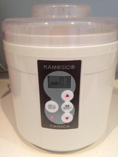 内容器に①と浸かる位の水を入れ、60度で3時間スタート